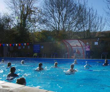 Aqua fitness, water aerobics class