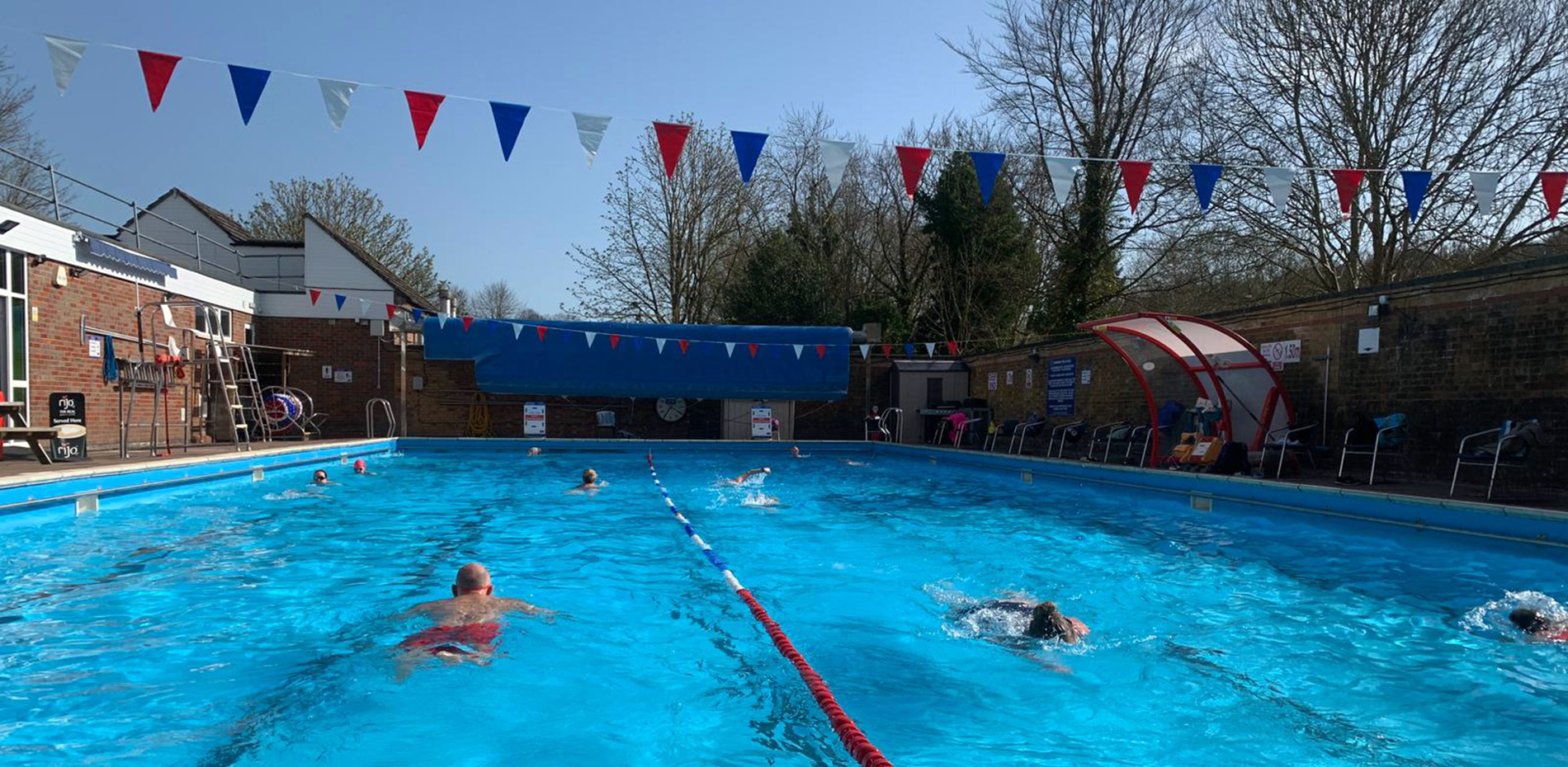 Socially distanced swimming in our first weeek of re-opening March 2021
