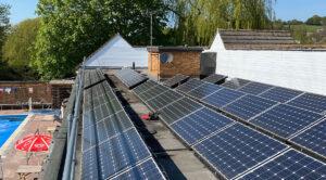 Cleaned solar panels April 2020 lockdown