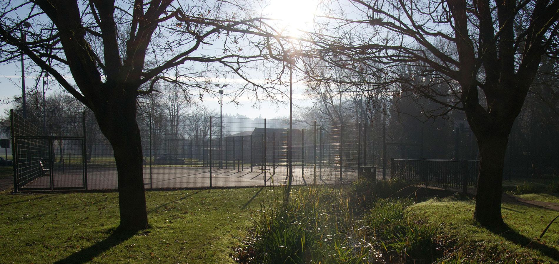 Tennis courts near Chesham Moor